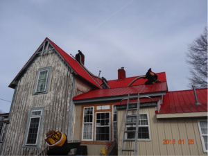 Getting the looooong pipe to the chimney top